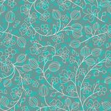 Turquoise floral ornament Stock Photos