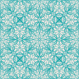 Turquoise floral pattern Stock Photo