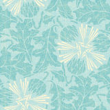 Turquoise floral seamless pattern. Stock Photography