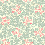 Turquoise floral seamless pattern Royalty Free Stock Photo