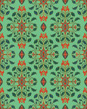 Turquoise floral wallpaper. Stock Photography