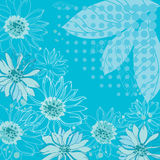 Turquoise flowers background Royalty Free Stock Images