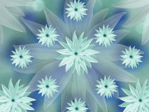 Turquoise  flowers  on blurred turquoise-blue background. floral background. floral  composition. colored wallpaper for design. Stock Photography
