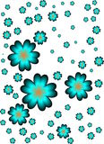 Turquoise flowers. Suitable as a container or background Royalty Free Stock Photography