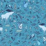 Turquoise Forest Pattern de vecteur Photographie stock libre de droits