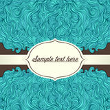 Turquoise frame with place for text Royalty Free Stock Images