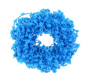 Turquoise Frilly Hair Holder Stock Photography