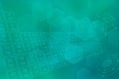 Turquoise futuristic background Stock Image