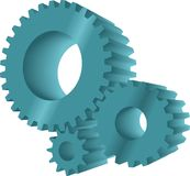 Turquoise gears Stock Image