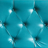Turquoise genuine leather sofa pattern Royalty Free Stock Images