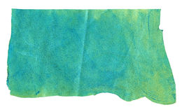 Turquoise genuine leather. Texture background Stock Image