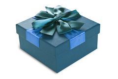 Turquoise Gift Box Royalty Free Stock Images