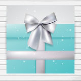 Turquoise gift card Stock Image