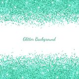Turquoise glitter on white background. Vector Stock Image