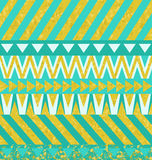 Turquoise and gold background Stock Photography