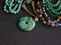 Turquoise Gold and Gemstones Royalty Free Stock Photos