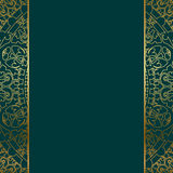 Turquoise & gold ornate border Royalty Free Stock Images