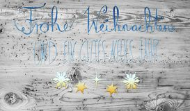 Turquoise And Golden Calligraphy Gutes Neues Means Happy New Year Stock Photography