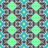 Turquoise gray regularly seamless pattern Royalty Free Stock Image