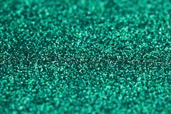 Turquoise Green Blue Sparkle Glitter background. Holiday, Christmas, Valentines, Beauty and Nails abstract texture Stock Photography