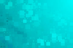 Turquoise green glowing various tiles background Stock Photos