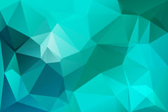 Turquoise green low poly background stock photography