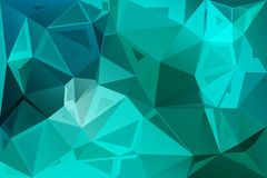 Turquoise green random sizes low poly background Royalty Free Stock Photos