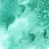Turquoise green watercolor texture Royalty Free Stock Photo