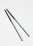 Turquoise Hand Painted Chinese Chopsticks Stock Image