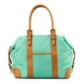Turquoise handbag isolated on white background. Royalty Free Stock Images