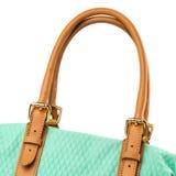 Turquoise handbag isolated on white background. Royalty Free Stock Photography