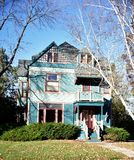 Turquoise House In Janesville royalty free stock images