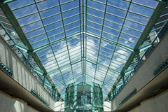 Turquoise huge skylight Stock Images