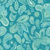 Turquoise Indian Henna Vector Pattern Royalty Free Stock Image