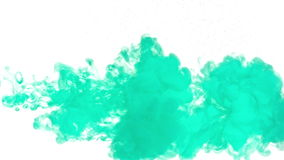 Turquoise ink in water stock video