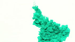 Turquoise Ink in Water stock video footage