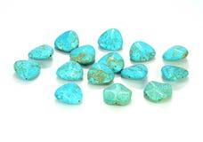 Turquoise Jewel. On white background Royalty Free Stock Photos