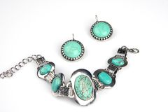 Turquoise jewelery royalty free stock photo