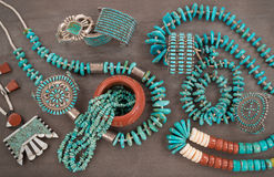 Turquoise Jewelry Extravaganza. Stock Photo