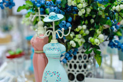 Turquoise jewelry stand as a dummy.  Stock Photography