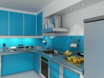 Turquoise kitchen Stock Image