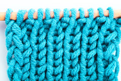 Turquoise knitted background Royalty Free Stock Images