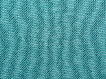 Turquoise knitted fabric Royalty Free Stock Image