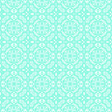 Turquoise lace pattern Stock Photos