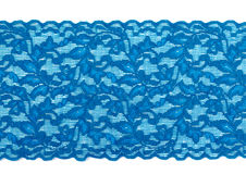 Turquoise lace ribbon Royalty Free Stock Photography