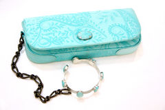 Turquoise ladies purse Stock Photography