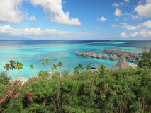Turquoise lagoon in moorea Stock Images