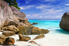 Turquoise lagoon on Similan Islands. Tropical scenery on Similan islands, Thailand Royalty Free Stock Image