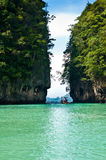 Turquoise lagoon in Thailand Royalty Free Stock Photos