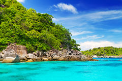 Turquoise lagoon in Thailand Stock Images